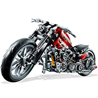 Kasstino 378Pcs Technic Motorcycle Exploiture DIY Model Harley Building Toy Bricks Block Gift