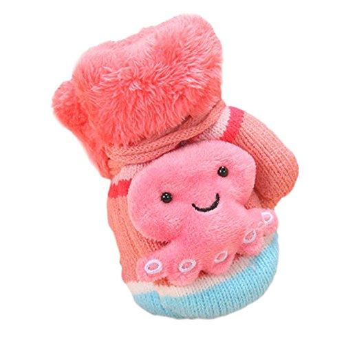 Fäustlinge EUZeo Baby Kleinkind verdicken warmen ohne finger handschuhe mit schnur (Für Schnee Handschuhe Kleinkinder)