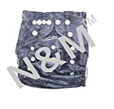 #8: N&M Reusable Cloth Diaper With Microfiber Insert - Navy Blue