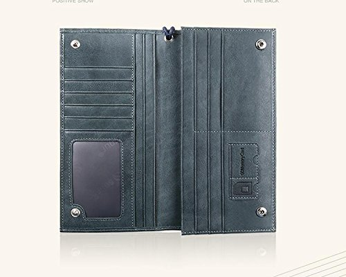 ZXDOP Brieftasche der Männer Mappen-Retro- Männer lange Beutel-Mappe der ledernen Beutel-Männer ( farbe : 3# ) 4#