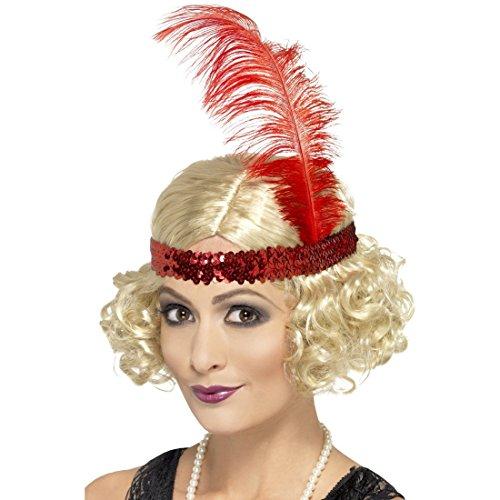 NET TOYS 20er Jahre Charleston Perücke blond Damenperücke Faschingsperücke Can Can Kostüm Zubehör