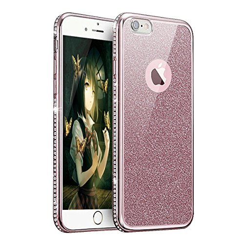 iPhone 7 Plus Coque Crystal Bling Bling,iPhone 7 Plus Silicone Case Slim Soft Gel Cover,iPhone 7 Plus Coque Silicone,iPhone 7 Plus Coque Transparente,iPhone 7 Plus Coque Ultra-Mince Etui Housse avec B TPU 2