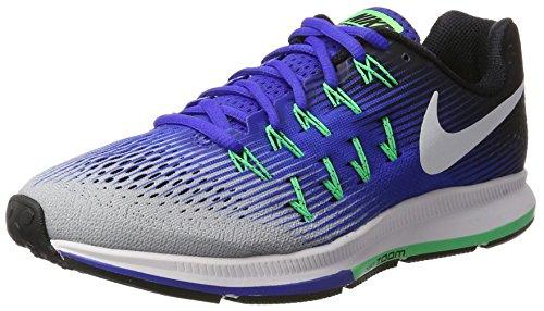 Nike Herren Air Zoom Pegasus 33 Laufschuhe, Blau (Grisloup/Blanc/Grisfroid/Noir), 44 EU (33 Laufschuhe Herren)