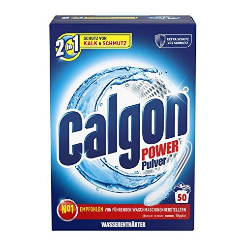 Calgon 2in1 Pulver, Wasserenthärter gegen Kalk & Schmutz in der Waschmaschine, 1er Pack (1 x 1,6...