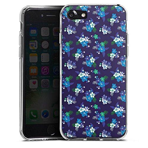 Apple iPhone X Silikon Hülle Case Schutzhülle Flower Blumen Muster Silikon Case transparent