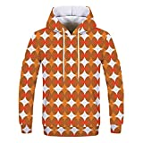 Elsta Herren Weihnachten Kapuzenpullover Oberteile Langarmshirt Rundhals Pulli Hoodie Sweatshirt Winter Warm Pullover Sweatjacke Sweater Pulli Winterjacke Freizeitjacke Tunika(Orange,XL)