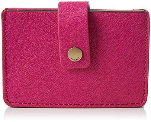 Fossil Damen Mini Tab Geldbörse, (Hot Pink), 1.91x6.68x10.16 cm