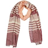 FabSeasons Brown Striped Cotton Scarf, Scarves, Stole and Shawl for Men