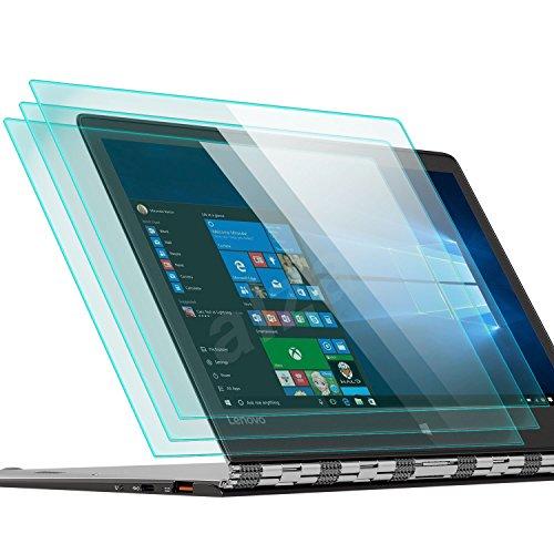 zanasta 3 Stück Bildschirmschutz Glas kompatibel mit für Lenovo Yoga A12 Folie aus Gehärtetem Glass (9H Härtegrad)   Klar Transparent