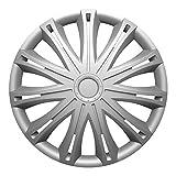 """Fussmatten-Deluxe Radkappen Radzierblenden Silber 16 Zoll 16"""" R16#SPA# für Fast alle Standard - Stahlfelgen z.B. BMW"""