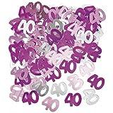 Unique Party - Coriandoli rosa per la festa di compleanno - 40 anni (Taglia unica) (Rosa)