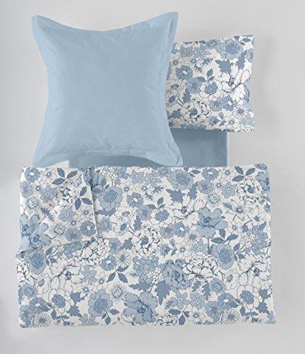 ES-Tela - Juego de Funda nórdica Estampada Erica 6 Piezas - Color Azul - Cama de 180 cm. Incluye...