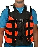 #2: Ajmeri Adult Safety Life Jacket for Swimming Superlite Vest (Orange-Black) - Weight Capacity Upto 120 Kg