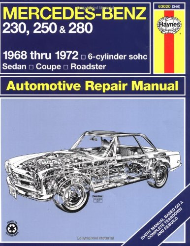 Mercedes Benz 230, 250 and 280, 1968-1972 (Service & repair manuals) por John Haynes