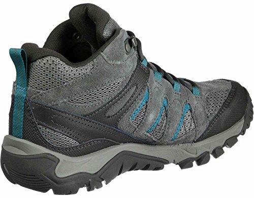 Vent Chaussures Randonnée Merrell Bleu Gtx De Outmost W Gris Mid Nv8nm0w