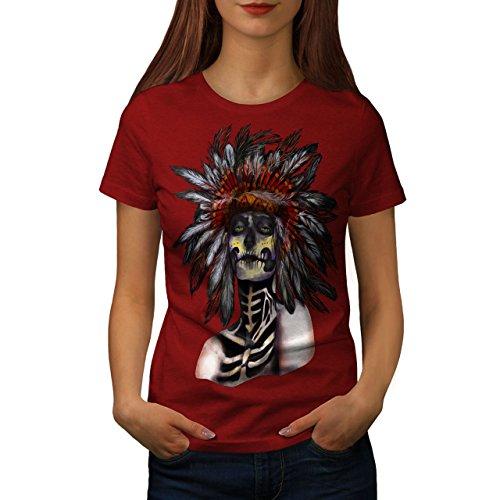 Wellcoda indisch Zucker Tod Schädel Kämpfer Frau XL T-shirt (Liebe Kämpfer-t-shirt)