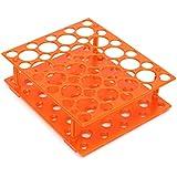 KING DO WAY Support Pour Tubes À Essai En Plastique Avec 50 Trous (30mm 15mm) Accessoires De Laboratoire Rangement Test Tube Rack Orange