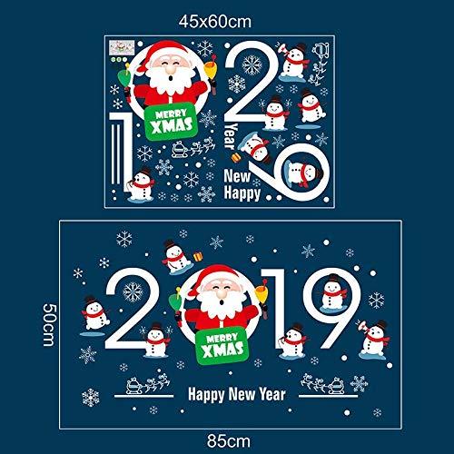 Peahop Weihnachts-Aufkleber, Indoor Xmas Decor Requisiten Fenster abnehmbare Haftet Party Kit (Indoor Christmas Decor Requisiten)