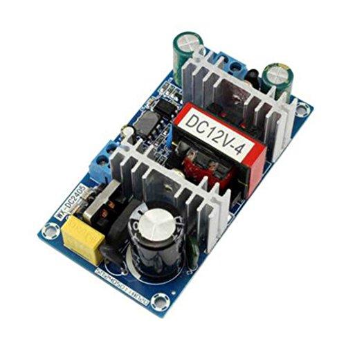 Uokoki 50W AC 100V-240V zu DC 12V 4A Schalter Stromversorgungsmodul AC-DC Low Ripple Industrie-Netzteil Bare Vorstand -