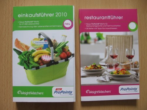 Weight Watchers Einkaufsführer 2010 + Restaurantführer 7 ProPoints Plan