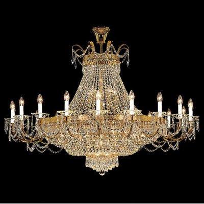 Kolarz Kronleuchter Empire 24 Karat Gold Handarbeit,Made in Italy,Made with SWAROVSKI SPECTRA