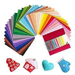 SOLEDI Feltro Colorato Feltro in Fogli 41 Colori 15*15 cm Feltro e Pannolenci Usato per DIY Mestieri per Bambini…