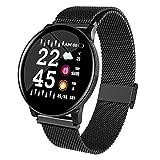 SHIQI SHIQI Smart Watch Geschäfts-Art-buletooth Herzfrequenz-Blutdruck-Sauerstoff-Schlaf-Monitor wasserdichte Kamera-Fernsteuerung