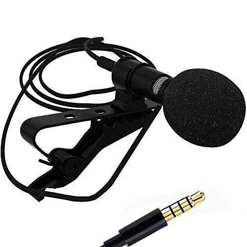 Forepin® Mini microfono con clip per Smartphone e PC - Nero (Spine di apple)