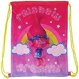 Disney Marvel Illumination Entertainment Nickelodeon Character School Nursery Trainer Shoe Pe Gym Sport Kit Swimming Drawstring Bag (Trolls)