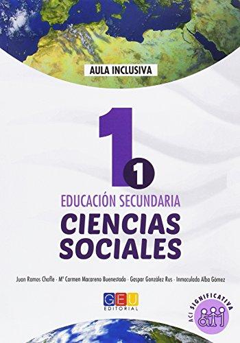Geografía e historia - Ciencias sociales libro de texto -1º de la ESO ACI significativa / Editorial GEU / Niños con NEE/ Adaptación curricular de contenidos