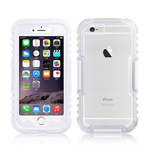 JAMMYLIZARD | Funda Salamander Impermeable Para iPhone 6 / 6s 4.7 Pulgadas Waterproof Capsula Sellada Sumergible, BLANCO