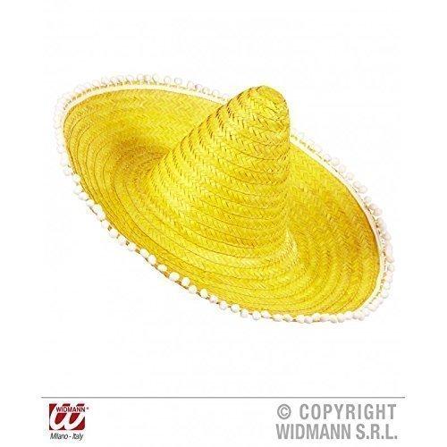 Moderno Sombrero mexicano / Sombrero en amarillo con gracioso Pom en el borde
