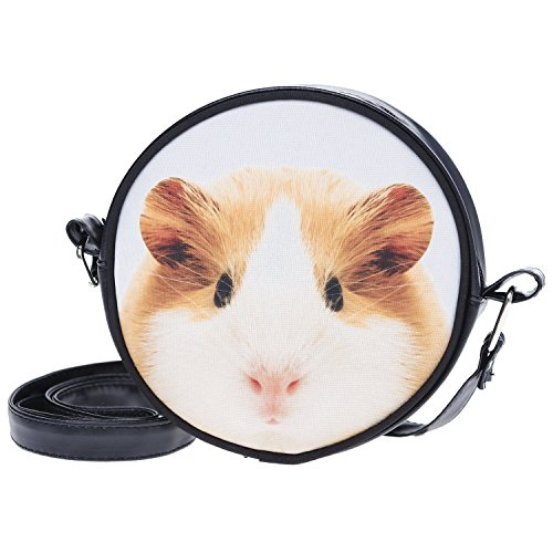 Fringoo, Borsa a tracolla donna Multicolore Emoji Week small Guinea Pig