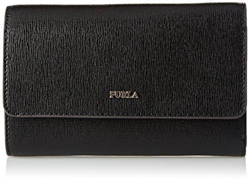Furla babylon medium trifold - portafogli donna, nero (onyx), 1x10.5x13 cm (b x h t)