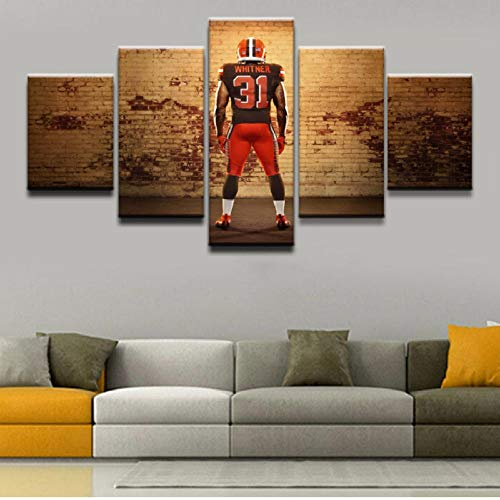 5 X 7 Rugby (shuyinju Hochwertige Leinwand Gemälde Wandkunst Rahmen 5 Stücke Sport Rugby Player Poster HD Drucke Bilder Wohnzimmer Dekorative-30x60cmx2 30x80cmx1)