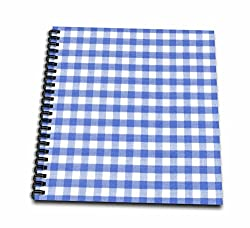 3dRose db_113015_3 Dark Blue and white Gingham pattern-cute navy retro checks checkered checked kitchen dining theme-Mini Notepad, 4 by 4