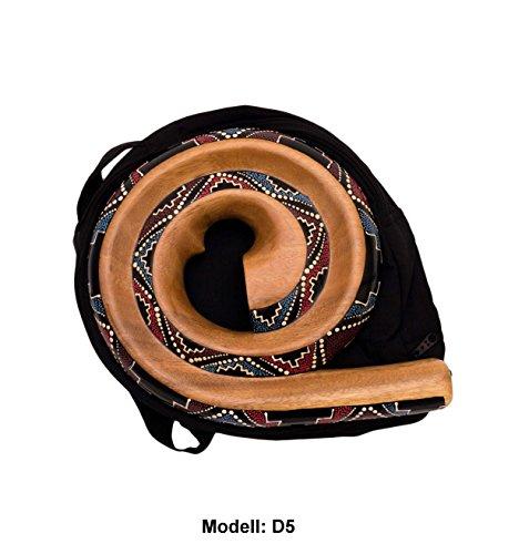 Didgeridoo Rundform Instrument Naturmaterialien Reisetasche Spirale Australien (D5)