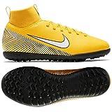 Nike Unisex Kid's Jr Superfly 6 Club NJR Tf Amarillo/White-Black Football Shoes-4 UK/India