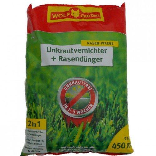 WOLF GARTEN Unkrautvernichter + Rasendünger SQ, in 4 Verpackungsgrößen 450 m², 9 kg
