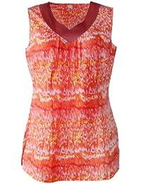 adonia mode Tunika Top Blusentop ohne Arm Batik , Gr.46 - 50