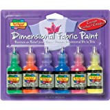 Scribbles Dimensional Fabric Paint 1 Ounce 6/Pkg-Crystals