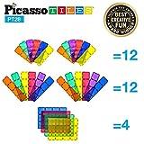 PicassoTiles PT28 Pezzi 12 'x9, 12 'x3, 9 'x3 Base per blocchi stabilizzatori grande Jumbo XL Kit per fondazioni magnetiche Blocchi magnetici Piastrelle DIY