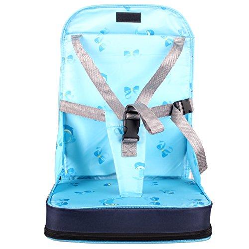 StillCool Seggiolino per Sedia pieghevole portatile Per Bambini, rialzo da sedia per bambini e neonati viaggio, con spugna di alta qualità e quattro cinture di sicurezza regolabili