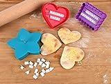 Keks Ausstechformen für individuelle Texte, Plätzchen Stempel / Ausstecher / Ausstechformen für Kekse & Persönliche Botschaften