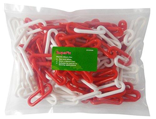 Plastique 5m de la chaîne 6mm Rouge / Blanc