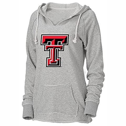 NCAA Texas Tech Red Raiders Womens Loose French Terry Hood,