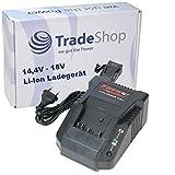 Trade-Shop Akku Ladegerät für 14,4V - 18V Li-Ion Akkus Ladestation Schnellladegerät für Bosch GST 18 V-LI 18 V-Li B Professional 18 V-Li S Professional GWS 18 V-LI Professional 18-125 V-LI Professional