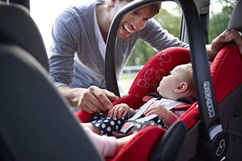 Maxi-Cosi Babyschale - Kinderautositz Gruppe 0+ (0-13 kg), schwarz, mit Isofix -