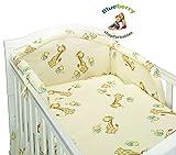 blueberryshop cuna edredón y fundas de almohada juego de ropa de cama, 150x 120cm, color crema jirafa, 2piezas