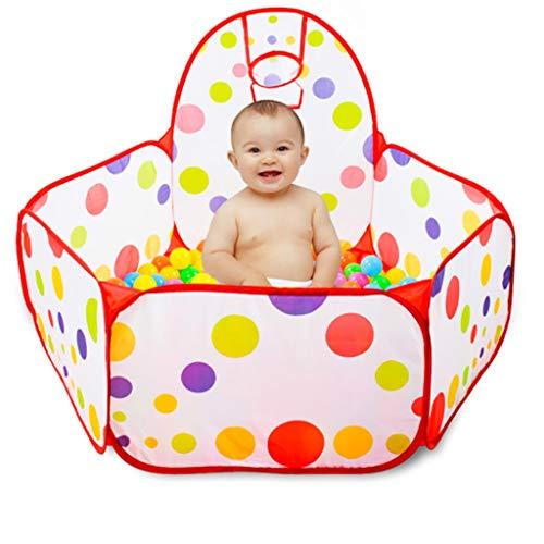 Laufgitter, Baby Laufstall,Laufgitter, Sicherheitszelt für Kinder Indoor Ball Pool Spielzelt Kinder Polka Dot Sechseck Laufgitter Tragbare Faltbare Laufgitter, Ozean Kugel (ca. 100) (größe : 1.5M) -